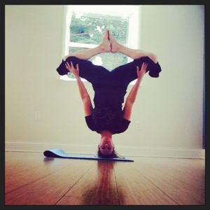 going for headstand  love life yoga